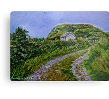 """Ruined Cottage near Kinny Lough, Magheradrumman, Fanad, Donegal."" Metal Print"
