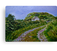 """Ruined Cottage near Kinny Lough, Magheradrumman, Fanad, Donegal."" Canvas Print"
