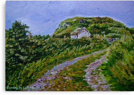 """""""Ruined Cottage near Kinny Lough, Magheradrumman, Fanad, Donegal."""" by Laura Butler"""