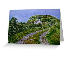 """""""Ruined Cottage near Kinny Lough, Magheradrumman, Fanad, Donegal."""" Greeting Card"""