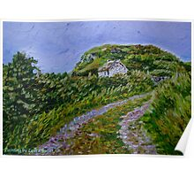 """""""Ruined Cottage near Kinny Lough, Magheradrumman, Fanad, Donegal."""" Poster"""