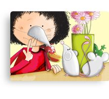 Shhh! I'm as quiet as a mouse Canvas Print