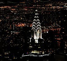 Chrysler at night from Empire State by brianhardy247