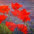 Poppies By the Sea by viveca