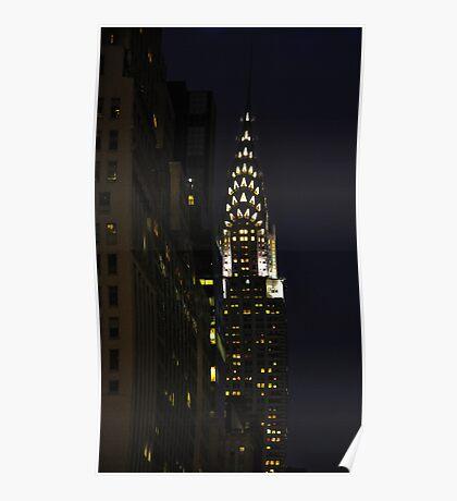 Chrysler Building at Night Poster