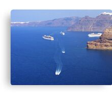 Park your Cruise Ship over here please Canvas Print