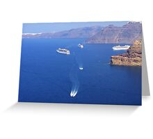 Park your Cruise Ship over here please Greeting Card