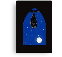 Bat in the Window Canvas Print