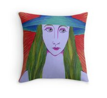 The Blue Hat Throw Pillow