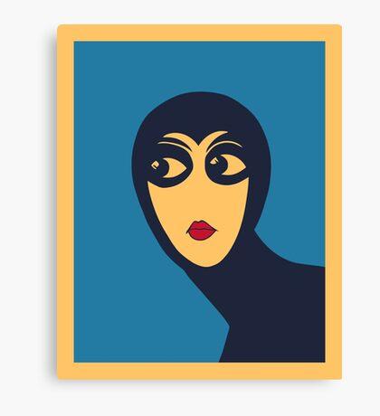 Space woman minimal Vector Art  Canvas Print