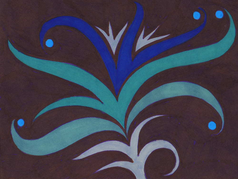 Blue Lily by Jacki Temple