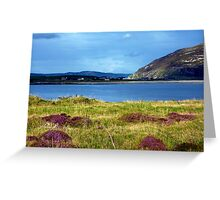 Hills And Heather Greeting Card