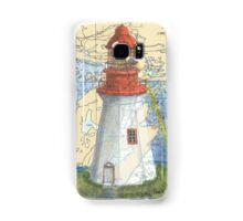 Lonely Island Lighthouse Ontario Map Cathy Peek Samsung Galaxy Case/Skin