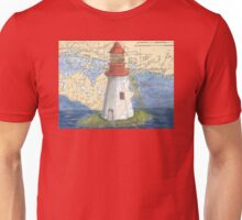Lonely Island Lighthouse Ontario Map Cathy Peek Unisex T-Shirt