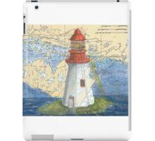 Lonely Island Lighthouse Ontario Map Cathy Peek iPad Case/Skin