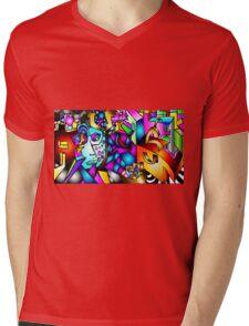 Masked Reality Mens V-Neck T-Shirt
