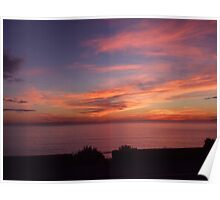 Sunset over the sea! Poster