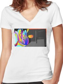 Rose Colored Glasses Women's Fitted V-Neck T-Shirt