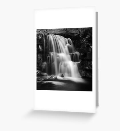 East Gill Force (Black & White) Greeting Card