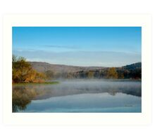 Mirror on Tranquil Lake Landscape Art Print