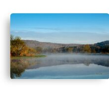 Mirror on Tranquil Lake Landscape Canvas Print