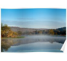 Mirror on Tranquil Lake Landscape Poster