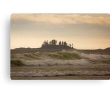 Long Beach Breaking Waves Canvas Print