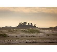 Long Beach Breaking Waves Photographic Print