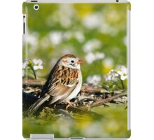 Field Sparrow Bird Art iPad Case/Skin
