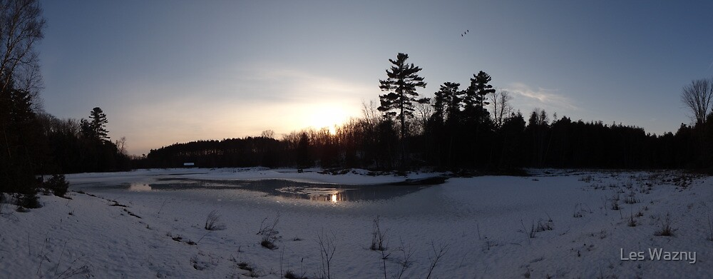 O'Hara Mills Conservation Area - Sunset by Les Wazny