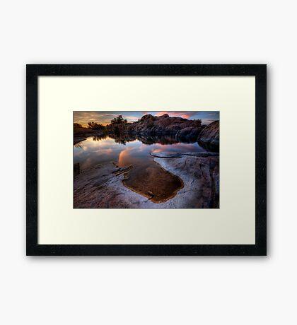Evaporate Framed Print