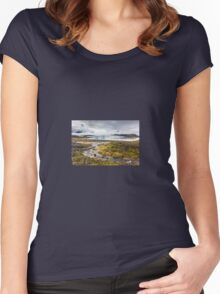 Fjallsarlon glacial lake, Iceland Women's Fitted Scoop T-Shirt