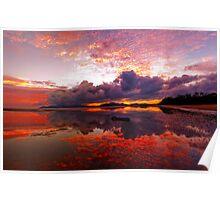 Bushland Beach Sunrise Poster