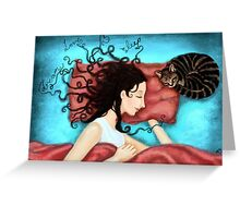 dream, love, sleep Greeting Card