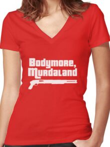 Bodymore, Murdaland Women's Fitted V-Neck T-Shirt