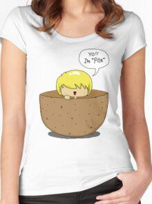 Peeta.. inside a PEETA. PEETA-CEPTION. Women's Fitted Scoop T-Shirt
