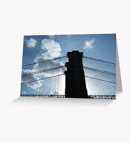 Brooklyn Bridge, View from Brooklyn Bridge Park, New York  Greeting Card