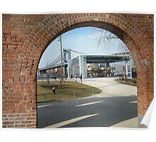View of Carousel in Brooklyn Bridge Park, Manhattan Bridge, Brooklyn, New York Poster