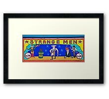 Strange Men at the Side Show @ Coney Framed Print