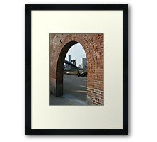 View of Brooklyn Bridge from Brooklyn Bridge Park, New York Framed Print