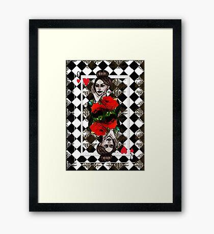 Dolce Gabbana  Fashion Illustration - Poker Queen Card Framed Print