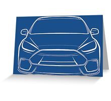 2016 Ford Focus RS White Greeting Card
