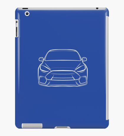 2016 Ford Focus RS White iPad Case/Skin