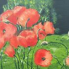 Orange Poppies by Jaana Day