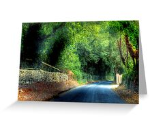 An Irish Lane - Southern Ireland, near Cork Greeting Card