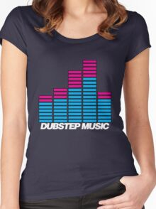 Equalizer Dubstep Music (dark) Women's Fitted Scoop T-Shirt