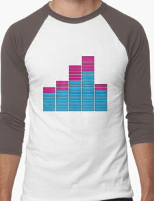 Equalizer Dubstep Music (dark) Men's Baseball ¾ T-Shirt