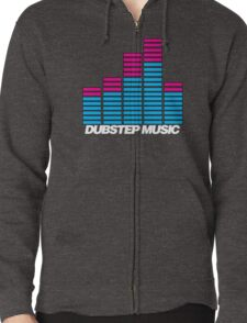 Equalizer Dubstep Music (dark) Zipped Hoodie