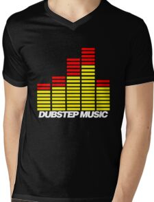Equalizer Dubstep Music (red/yellow) Mens V-Neck T-Shirt