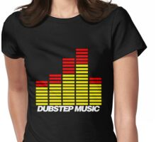 Equalizer Dubstep Music (red/yellow) Womens Fitted T-Shirt